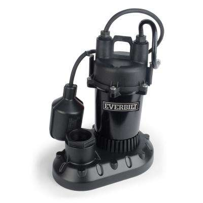 1/2 HP Submersible Aluminum Sump Pump with Tethered Switch