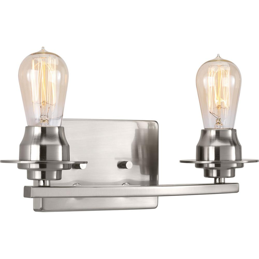 Debut Collection 2 -Light Brushed Nickel Bath Light