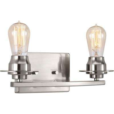 Debut Collection 2-Light Brushed Nickel Vanity Light