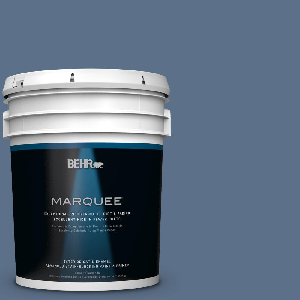 BEHR MARQUEE 5-gal. #S520-6 Layers of Ocean Satin Enamel Exterior Paint