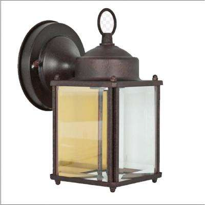 Alger 1-Light Bronze Outdoor Wall Mount Sconce