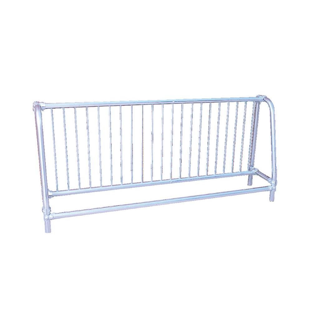 Ultra Play 10 ft. Galvanized Commercial Park Single Sided Bike Rack Portable
