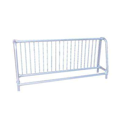 10 ft. Galvanized Commercial Park Single Sided Bike Rack Portable