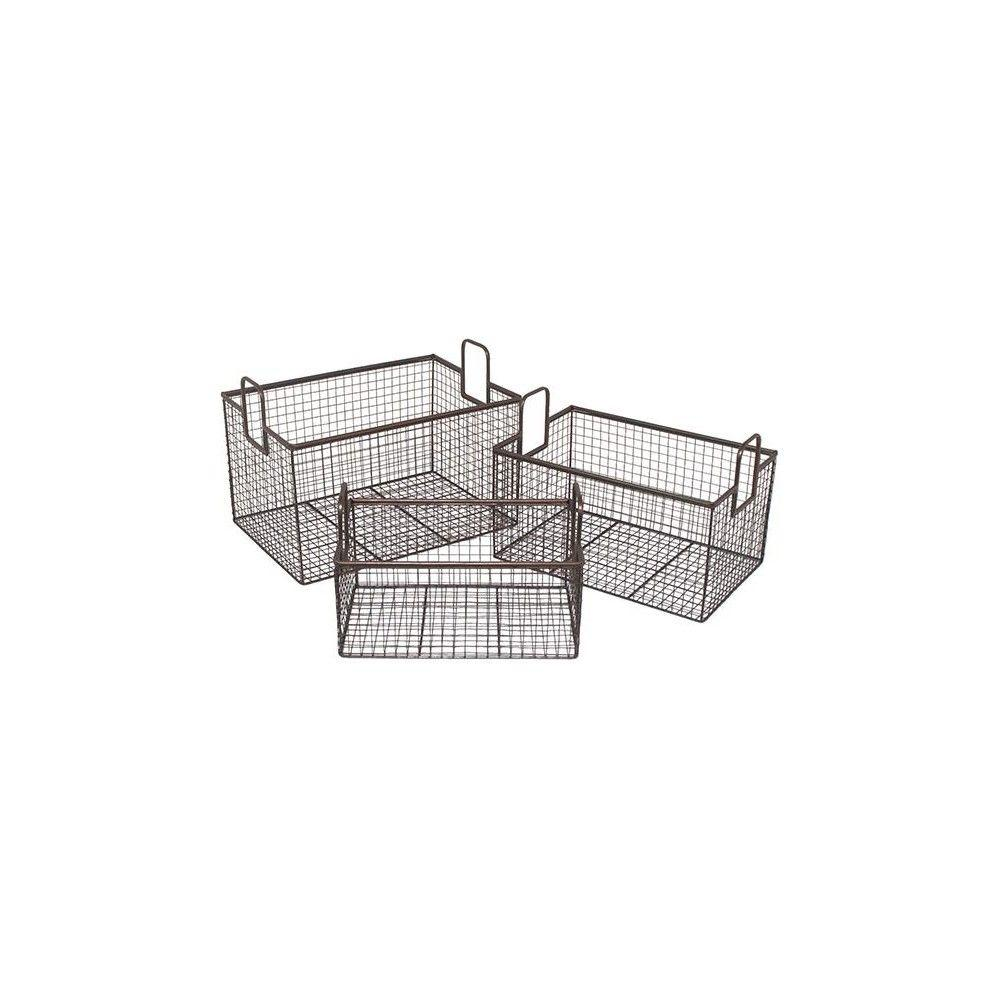 Home Decorators Collection Caleb Bronze Metal Baskets (Set of 3)