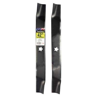 42 in. Mower Blade Set for Craftsman, Husqvarna, Poulan (2-Pack)