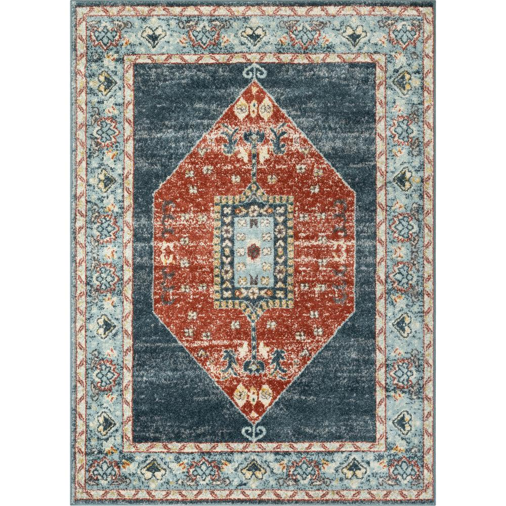 Well Woven Mystic Mabel Blue Modern Vintage Boho Southwestern 5 Ft 3 In X 7 Ft 3 In Area Rug Mc 384 5 The Home Depot