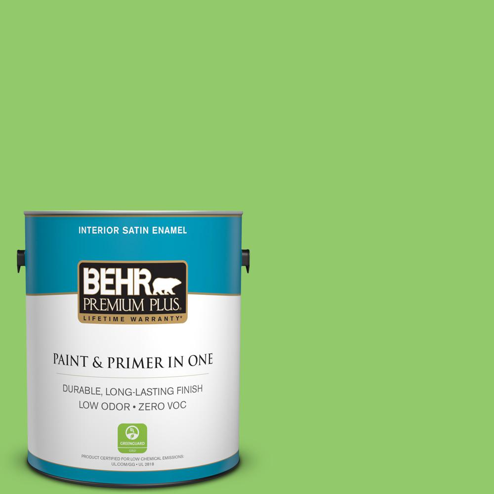 1-gal. #430B-5 Apple Orchard Zero VOC Satin Enamel Interior Paint