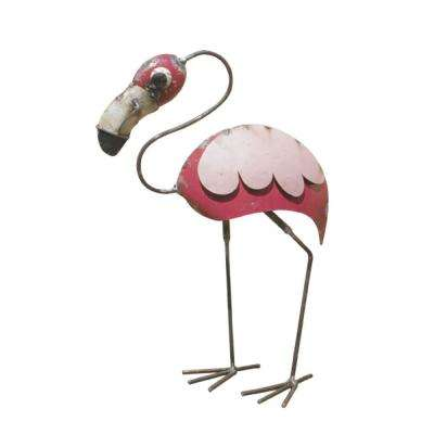 19in. Recycled Iron Baby Flamingo