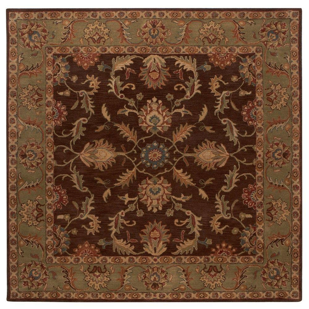 Home Decorators Collection Aristocrat Brown 8 Ft X 8 Ft Square Area Rug 0167580820 The Home