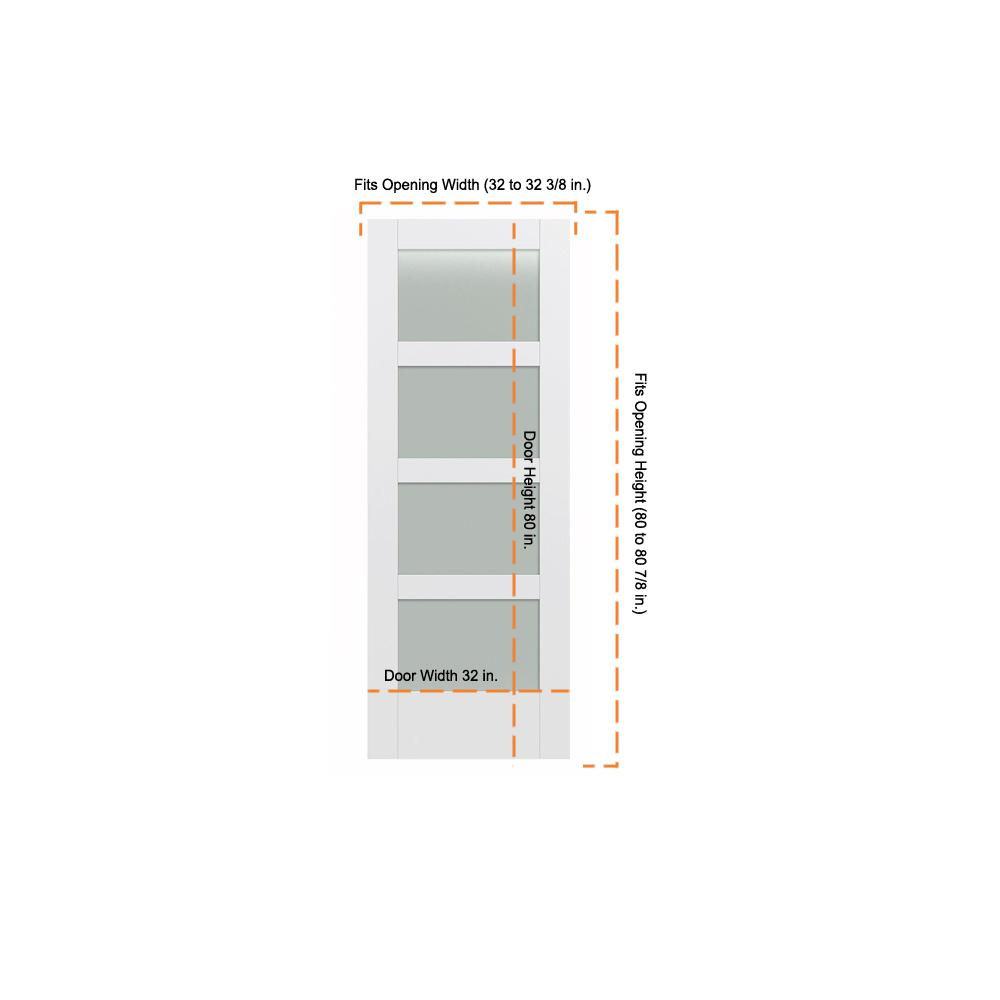 Jeld Wen 32 In X 80 In Moda Primed Pmt1044 Solid Core Wood Interior Door Slab Wtranslucent Glass