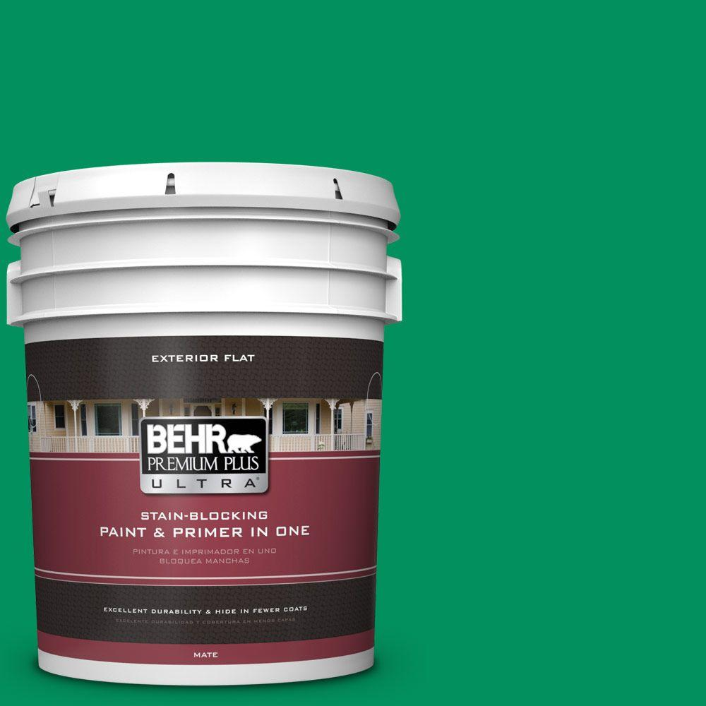 BEHR Premium Plus Ultra 5-gal. #470B-6 Emerald Lake Flat