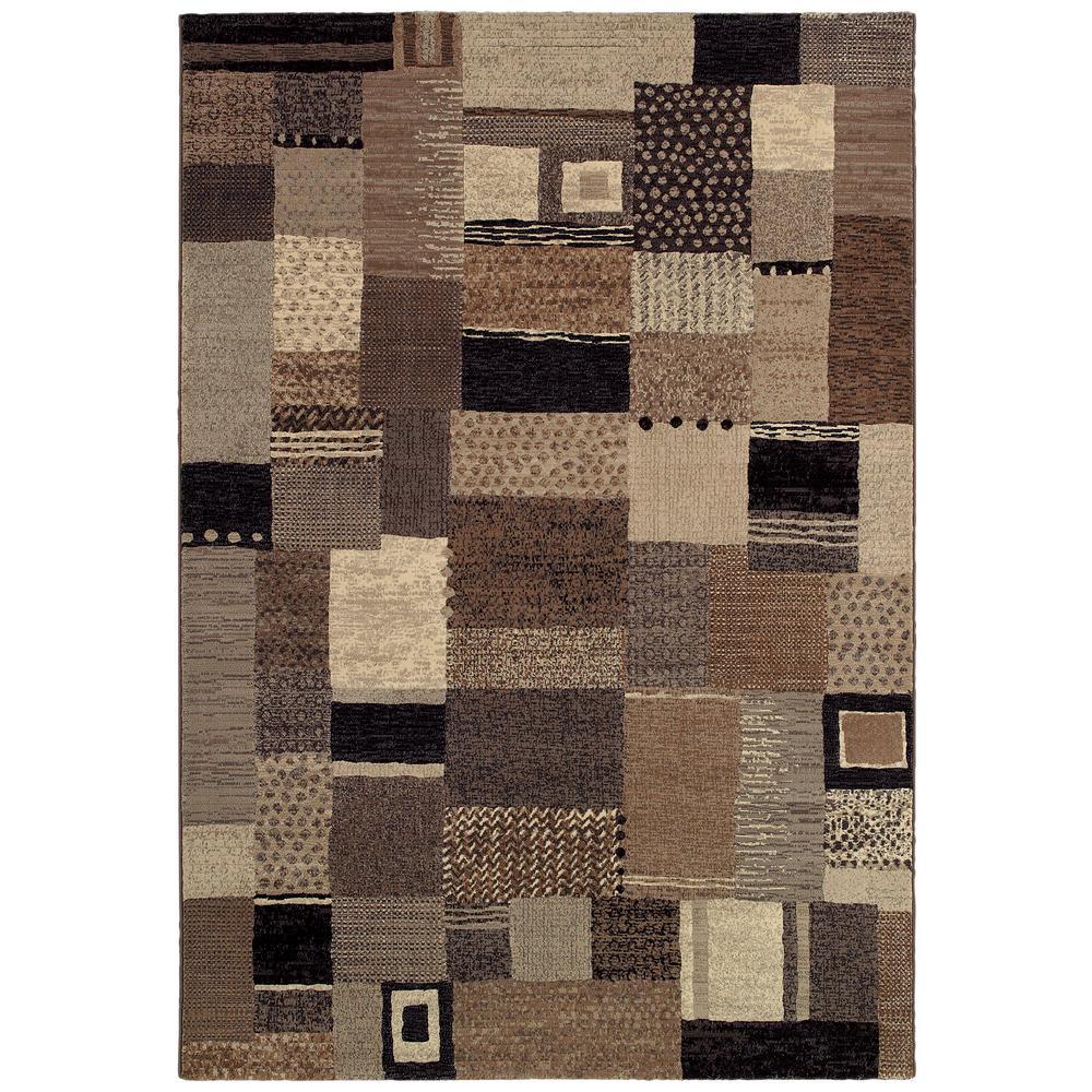 Easton Maribel Ivory-Grey 9 ft. x 12 ft. Area Rug