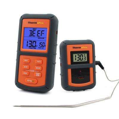 300 ft. Range Remote Wireless Digital Kitchen Cooking Food Meat Thermometer with Timer for BBQ Smoker Grill Oven