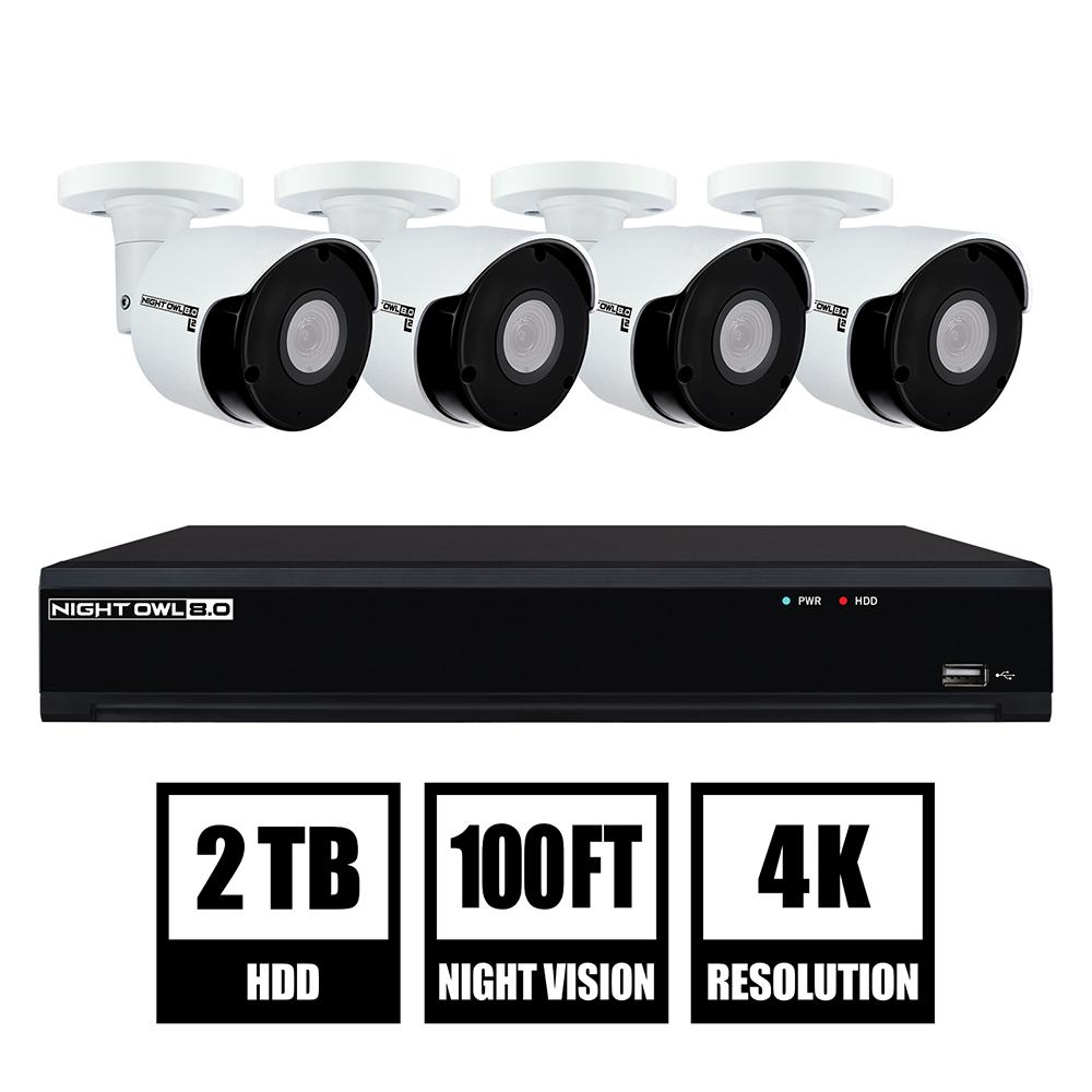 absolutely smart owl items. Night Owl 8 Channel 4K UHD Wired Smart Security NVR with 2 TB Hard Drive