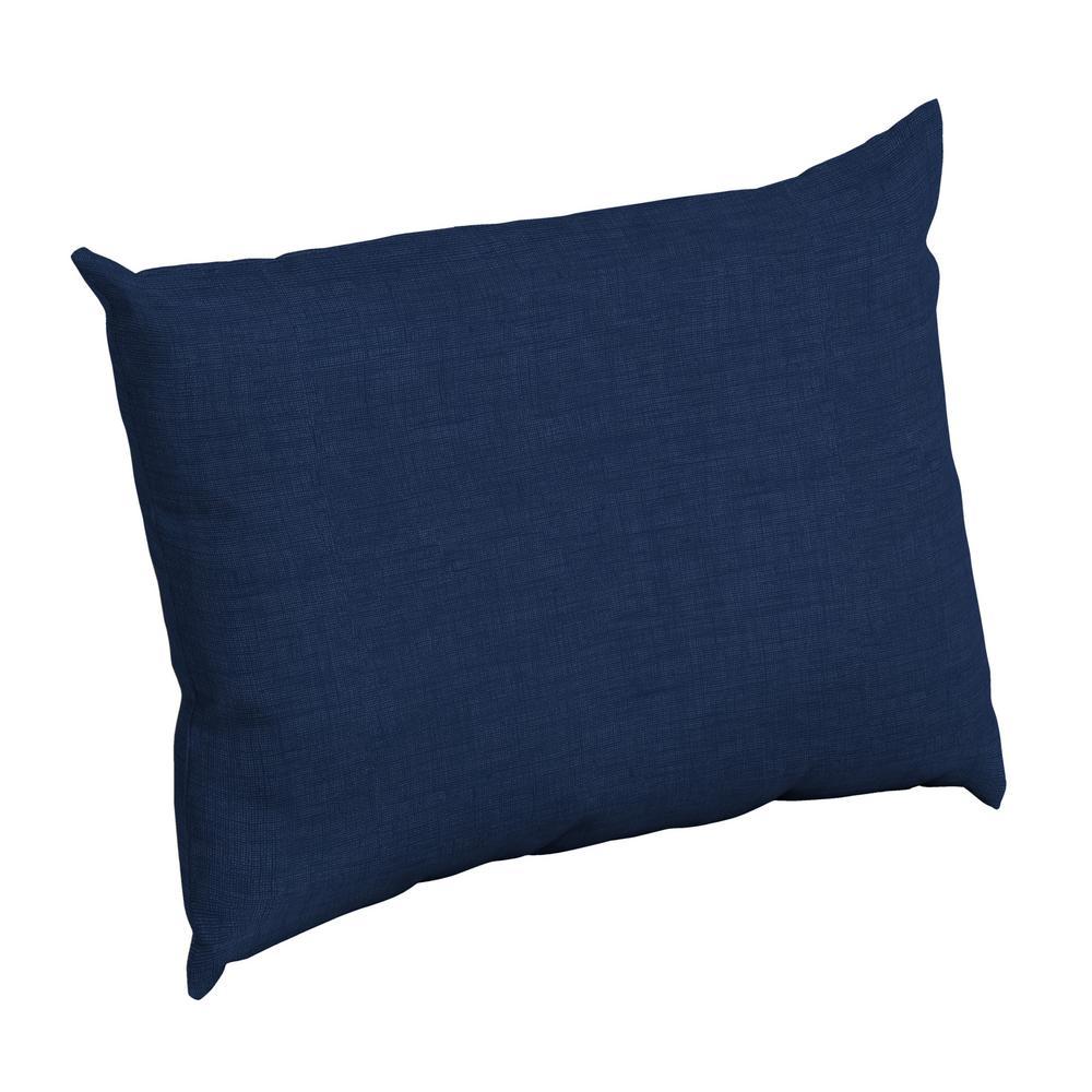 Sapphire Leala Texture Rectangle Outdoor Throw Pillow