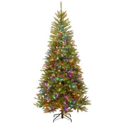 7.5 ft. PowerConnect Dunhill Fir Artificial Christmas Slim Tree with Light Parade LED Lights