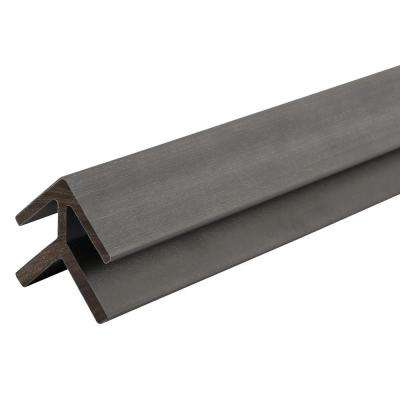 All Weather System 2.2 in. x 2.2 in. x 8 ft. Composite Siding Outside Corner Trim in Westminster Gray Board
