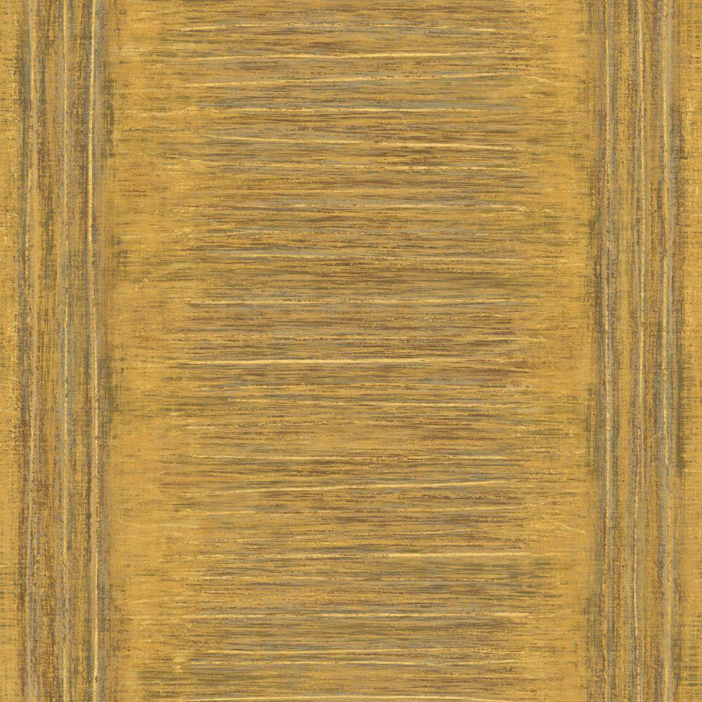 The Wallpaper Company 56 sq. ft. Yellow Ethnic inspired Stripe Wallpaper