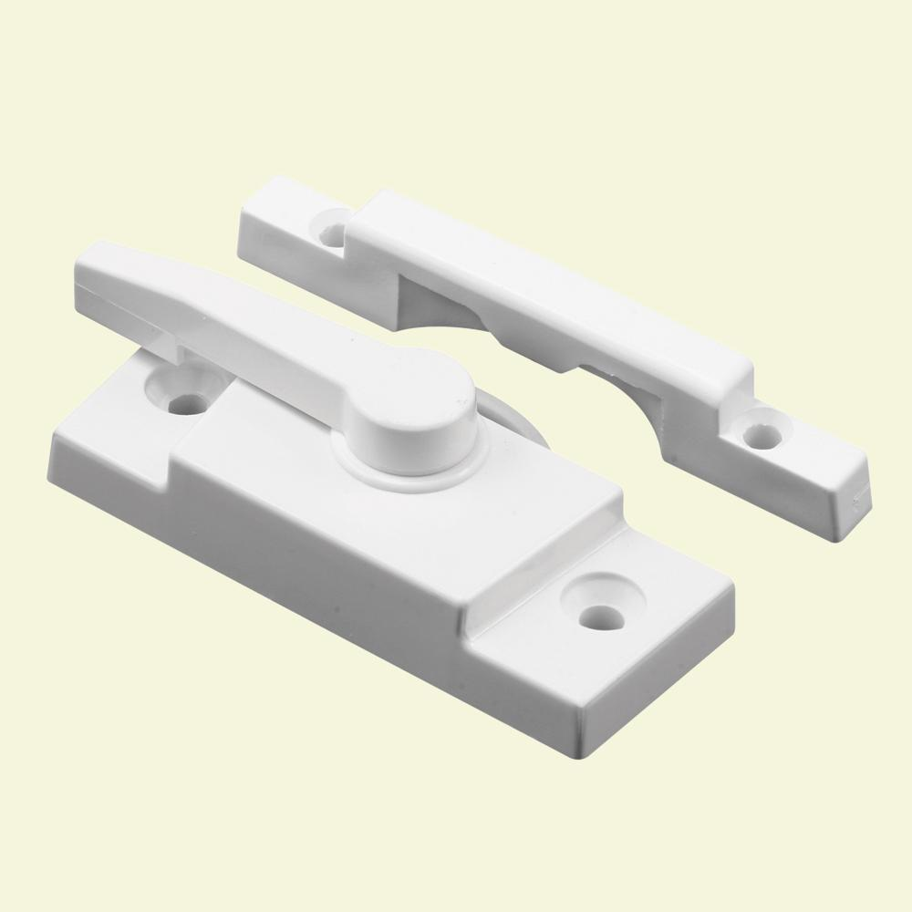 Prime-Line White Vinyl Window Sash Lock