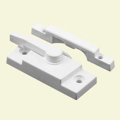White Vinyl Window Sash Lock