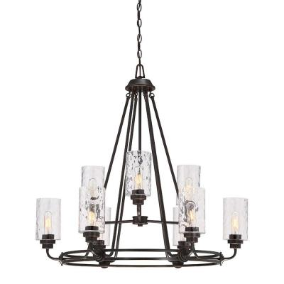 Gramercy Park 9-Light Old English Bronze Interior Incandescent Chandelier