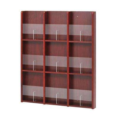 Oak and Acrylic 9-Pocket Literature or 18-Pocket Brochure Racks