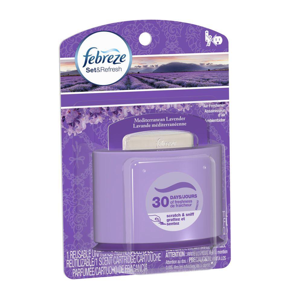 Set and Refresh 0.18 oz. Mediterranean Lavender Cartridge Air Freshener Starter