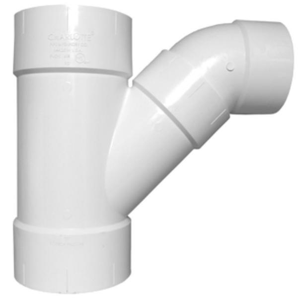12 in. PVC DWV Combination Wye and Eighth Bend (2-Piece)
