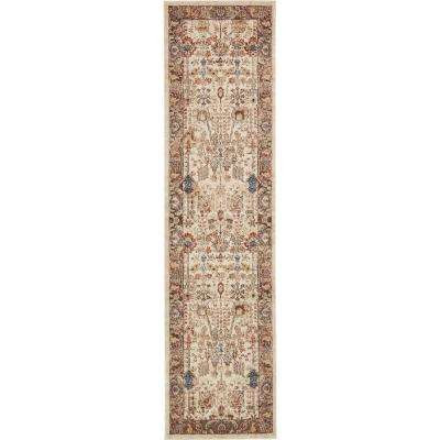 Utopia Antheia Beige 2' 7 x 10' 0 Runner Rug