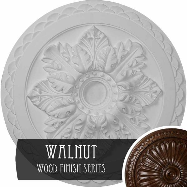 Ekena Millwork 23 5 8 In X 3 In Id X 2 In Bordeaux Deluxe Urethane Ceiling Medallion Fits Canopies Upto 4 In Walnut Cm23bowas The Home Depot