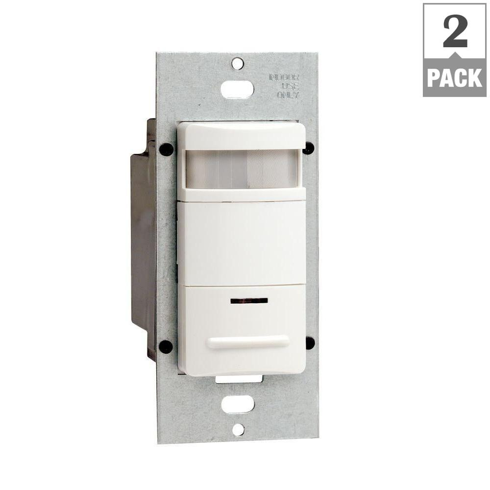 Leviton Decora 120 277 Volt Wall Switch Occupancy Sensor White 2 Ac Power With Relay Infrared Proximity