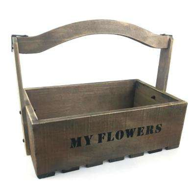14 in. Wooden Tool Box