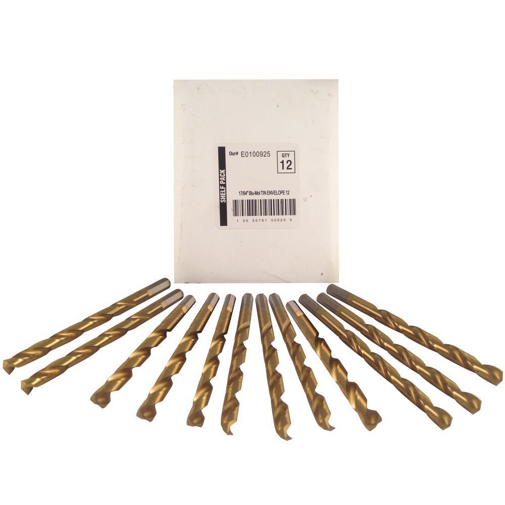 17/64 in. Diameter Titanium Jobber Drill Bit (12-Pack)