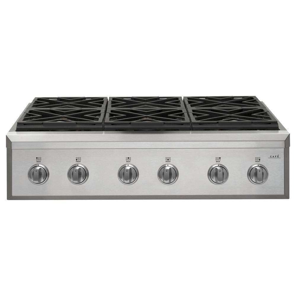 36 In Gas Cooktop Stainless Steel With 6 Burners