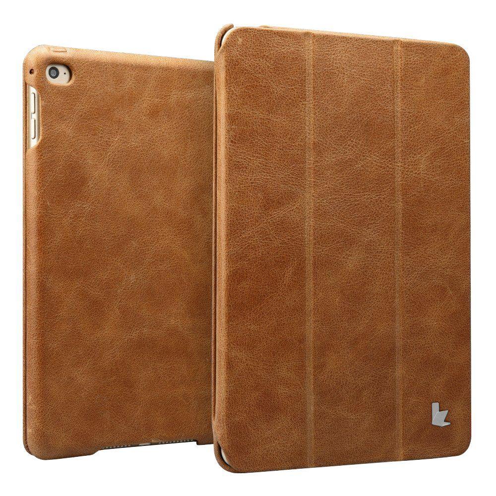 Vintage Genuine Leather Smart Case - Brown
