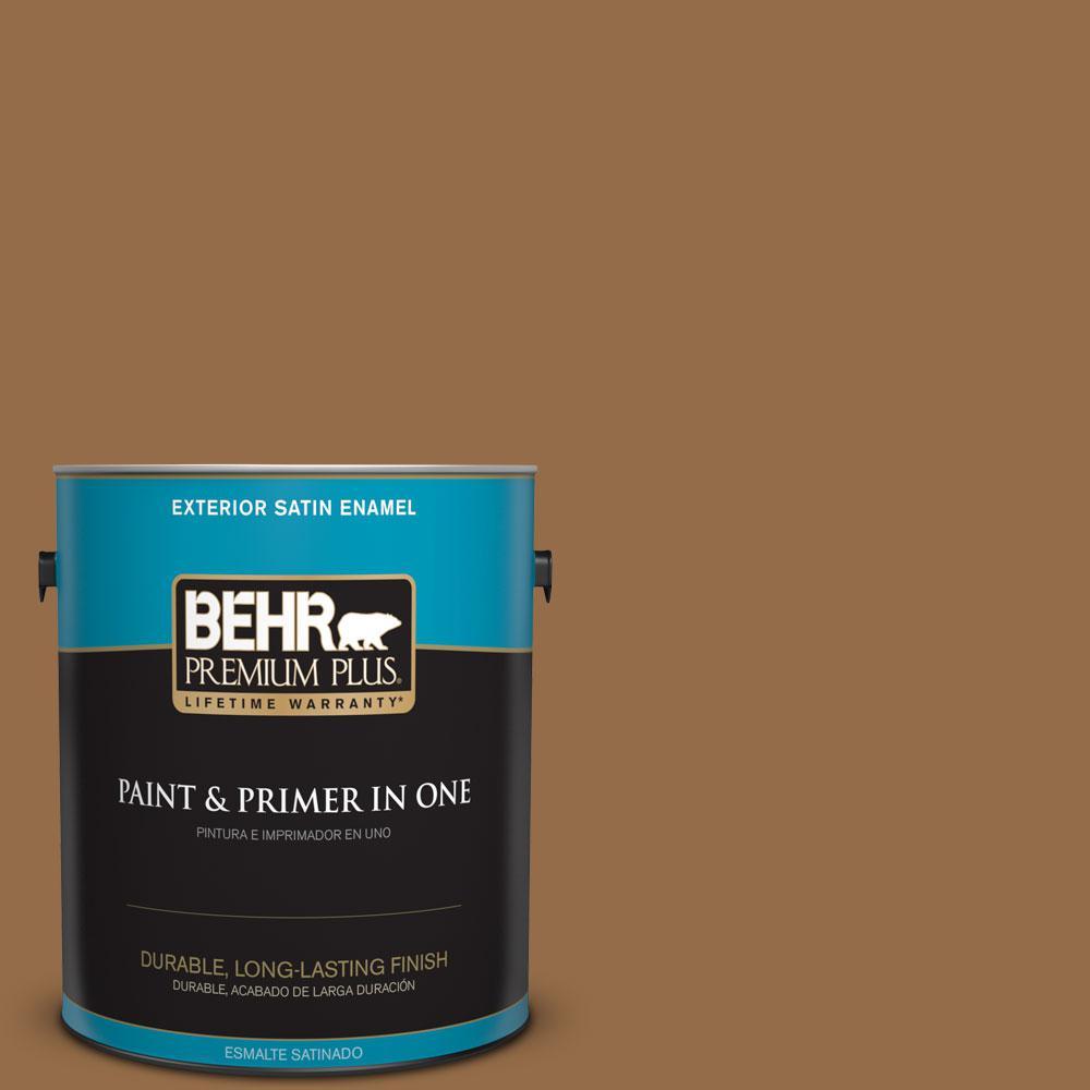 BEHR Premium Plus 1-gal. #S260-7 Nugget Gold Satin Enamel Exterior Paint