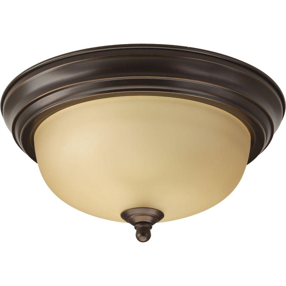 Progress Lighting 1-Light Antique Bronze Flushmount