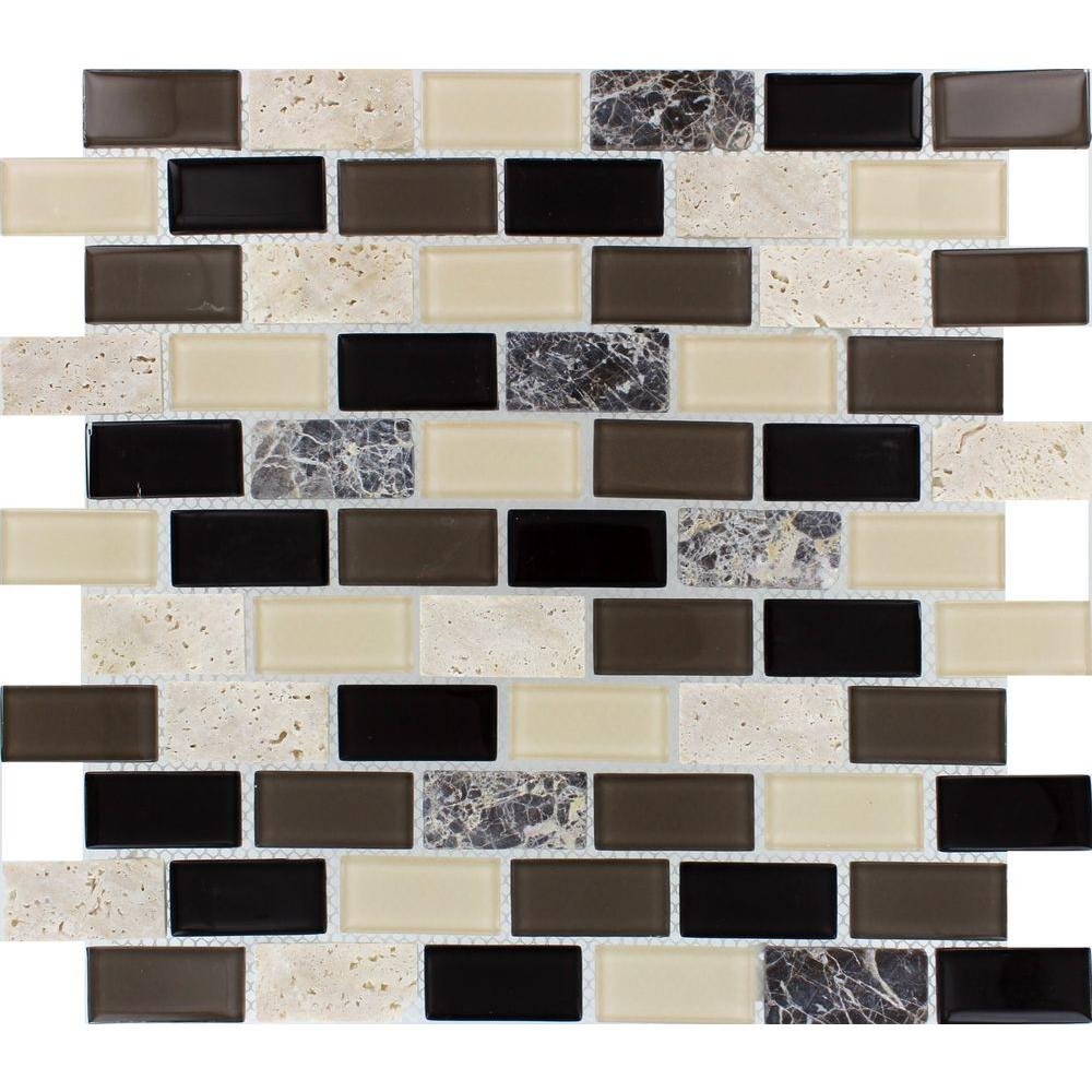 MS International Citadel Blend 12 in. x 12 in. x 6 mm Glass Stone Mesh-Mounted Mosaic Tile