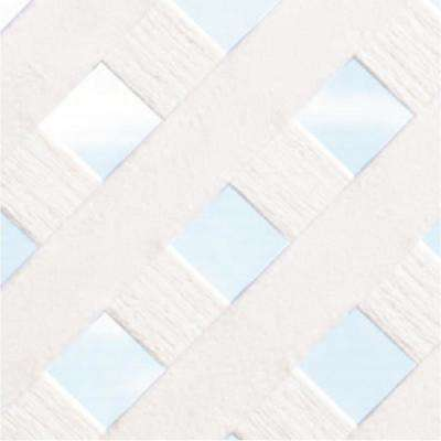 0.125 in. x 48 in. x 8 ft. White Privacy Plastic Lattice (2-Pack)