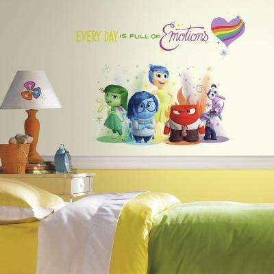 2.5 in. W x 21 in. H Inside Out Burst 6-Piece Peel and Stick Giant Wall Decal