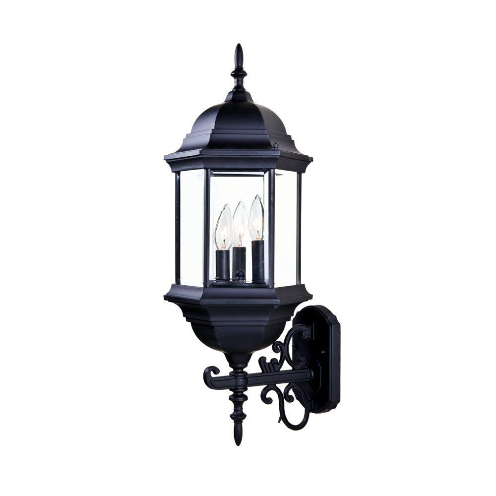 Light Fixture Collections: Acclaim Lighting Madison Collection 3-Light Matte Black