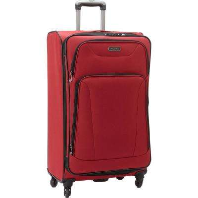Wicker Park Collection Lightweight Durable Softside 600D Polyester 4-Wheel Expandable 28 in. Checked Luggage