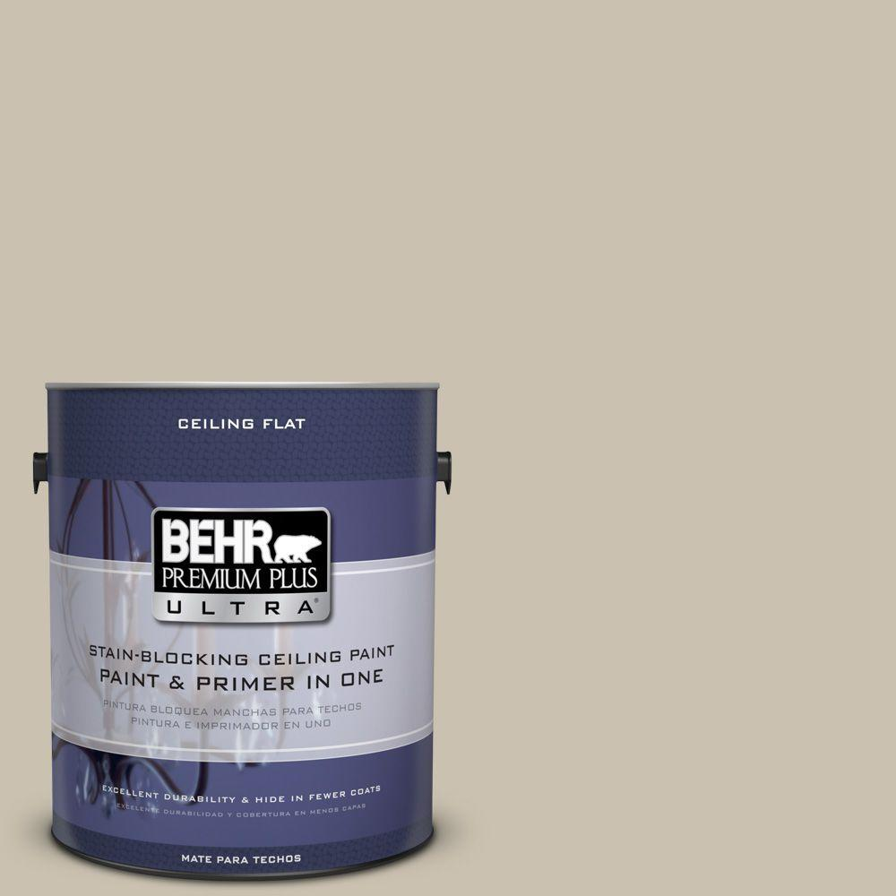 BEHR Premium Plus Ultra 1-Gal. No.UL170-8 Ceiling Tinted to Washed Khaki Interior Paint