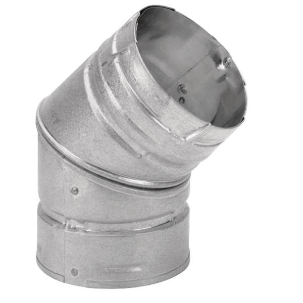 PelletVent 4 in. 45-Degree Elbow Chimney Stove Pipe