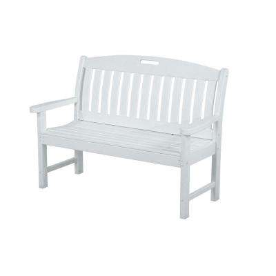 Perfect White Plastic Outdoor Patio Bench