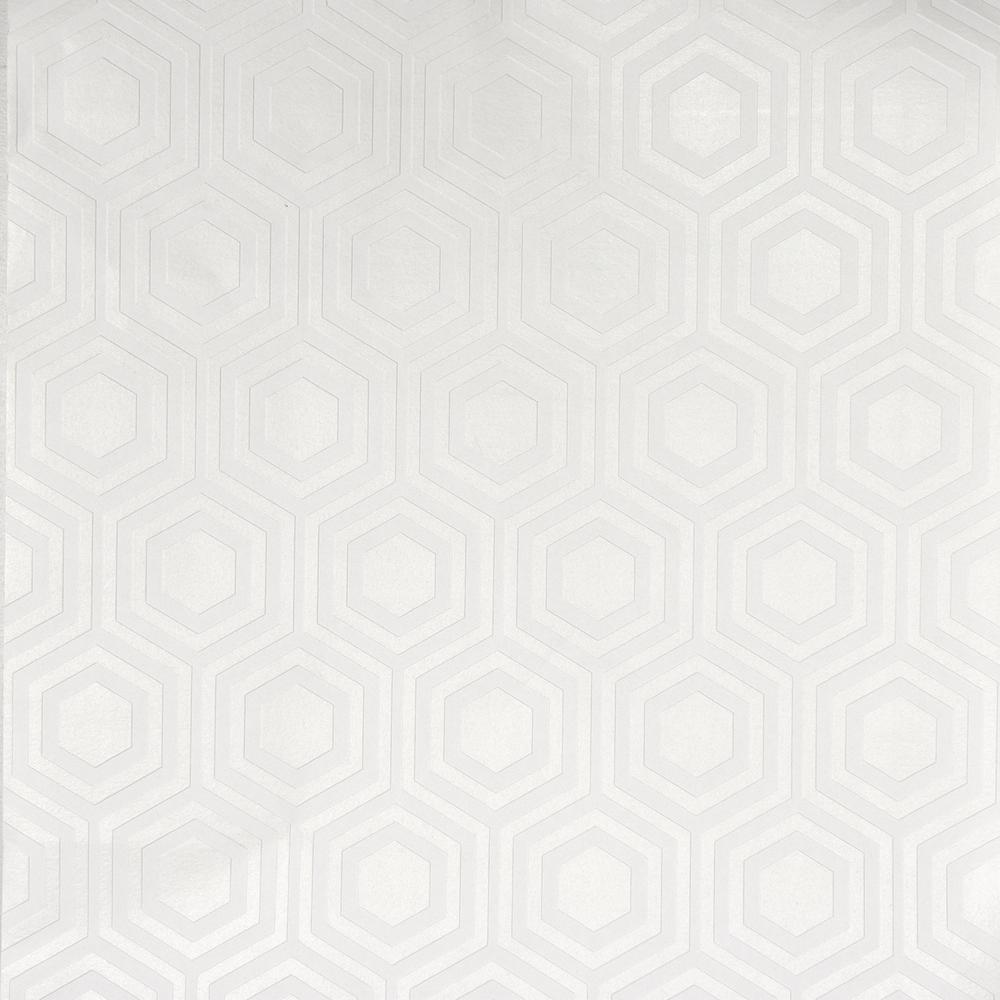 Brewster 56.4 sq. ft. Hive Paintable Geometric Wallpaper, White & Off-White was $46.88 now $27.8 (41.0% off)
