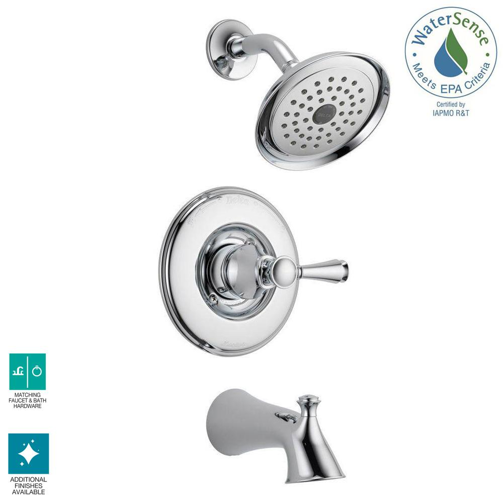 Delta Silverton Single-Handle 1-Spray Tub and Shower Faucet in Chrome (Valve Included)