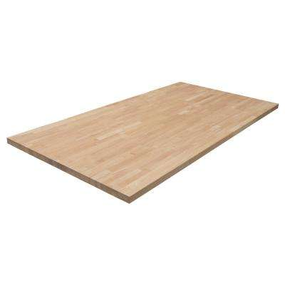 6 ft. 2 in. L x 3 ft. 3 in. D x 1.5 in. T Island Butcher Block Countertop in Unfinished Hevea Wood