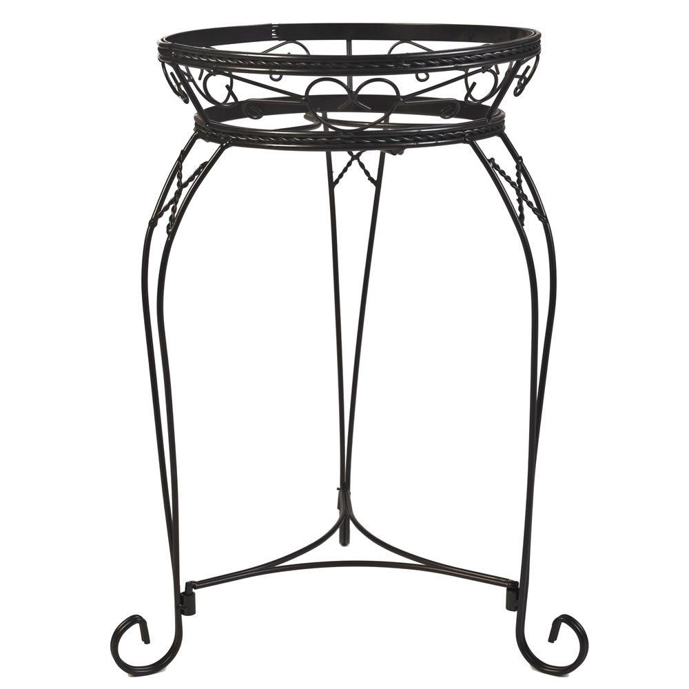 21 in. Scroll Braided Bronze Steel Plant Stand