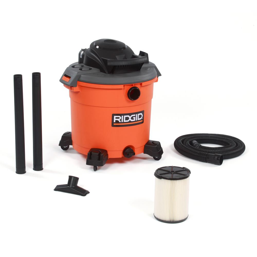 ridgid 16 gal 5 0 peak hp wet dry vac wd1640 the home depot rh homedepot com Ridgid WD1450 Parts Ridgid WD1450 Home Depot